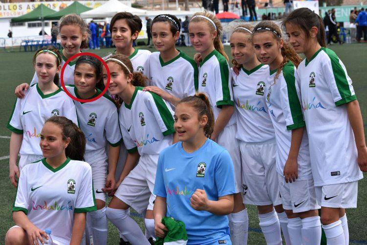 La rondeña Carmen Florido, tras ser reclutada para la Selección Andaluza, se convierte en toda una promesa del fútbol femenino español