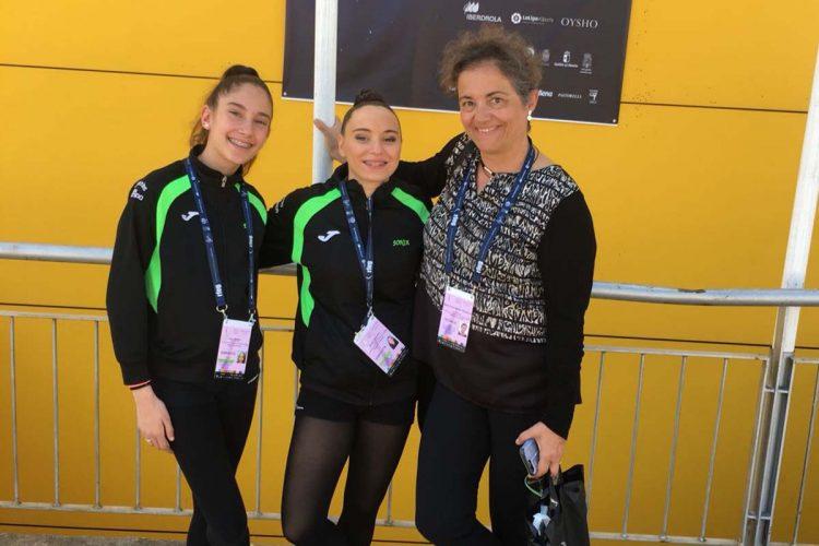 Las rondeñas Sonia Santos y Eva Varea se sitúan entre las cincuenta mejores gimnastas del país