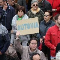 Una imagen de la multitudinaria manifestación del pasado 30 de abril para reclamar una autovía.