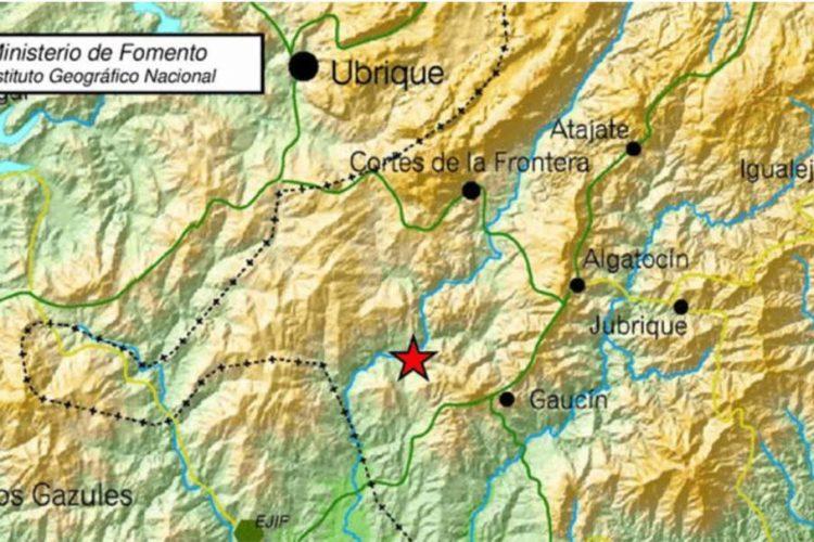 Un terremoto de 4,5 grados con epicentro en Gaucín se deja sentir en buena parte de la Serranía