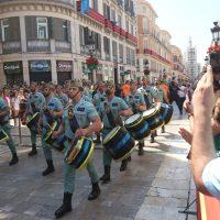 La Legión de Ronda desfila por el centro de Málaga en el Día de las Fuerzas Armadas