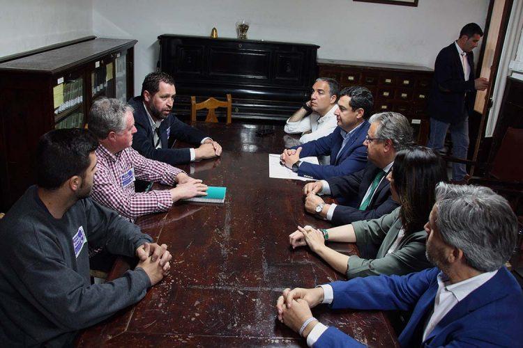 Zoido, Moreno Bonilla y Bendodo ofrecen su apoyo a la plataforma para que Ronda cuente con una autovía