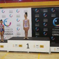 La gimnasta rondeña Zaira Guerrero se proclama subcampeona de Anducía en prebenjamín manos libres