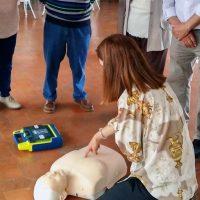 Profesionales del Área Sanitaria Serranía ofrecen formación sobre soporte vital básico a personas mayores de Ronda