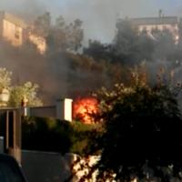 Un incendio provoca la alarma entre los vecinos de La Torrecilla al quedarse las llamas a escasos metros de sus viviendas