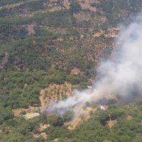 Efectivos del Plan Infoca controlan un incendio forestal que se ha declarado esta tarde en parajes de Jubrique