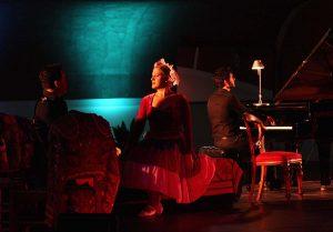 Una escena de la noche musical.