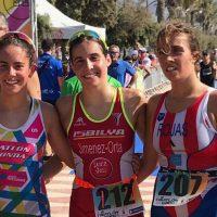 La rondeña Lucía Melgar logra la medalla de plata en el Campeonato de Andalucía de Triatlón Cros
