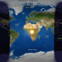 El Sol, al mediodía, no está en la vertical de España.