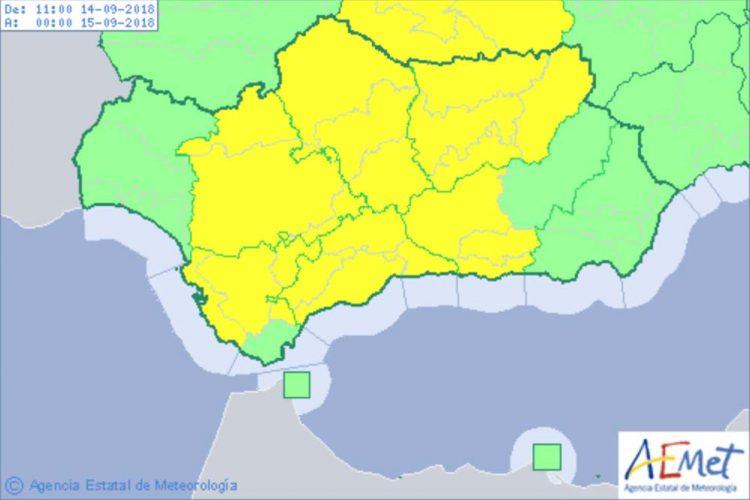 Declaran la alerta amarilla en la Serranía por fuertes lluvias y tormentas este viernes y sábado