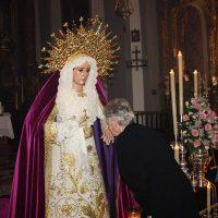 La Hermandad del Huerto celebra la festividad de María Santísima Consuelo de las Tristezas con el tradicional besamanos