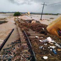 Adif trabaja para restablecer lo antes posible la línea férrea entre Ronda y Málaga que permanece cortada por los daños de las lluvias