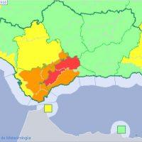 Ronda en alerta roja por importantes lluvias que pueden dejar hasta 180 litros de agua en la Serranía
