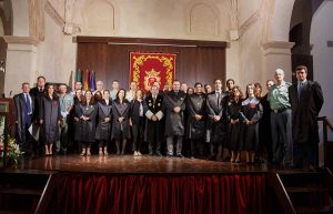Foto de familia del Colegio de Abogados de Málaga y los letrados rondeños.