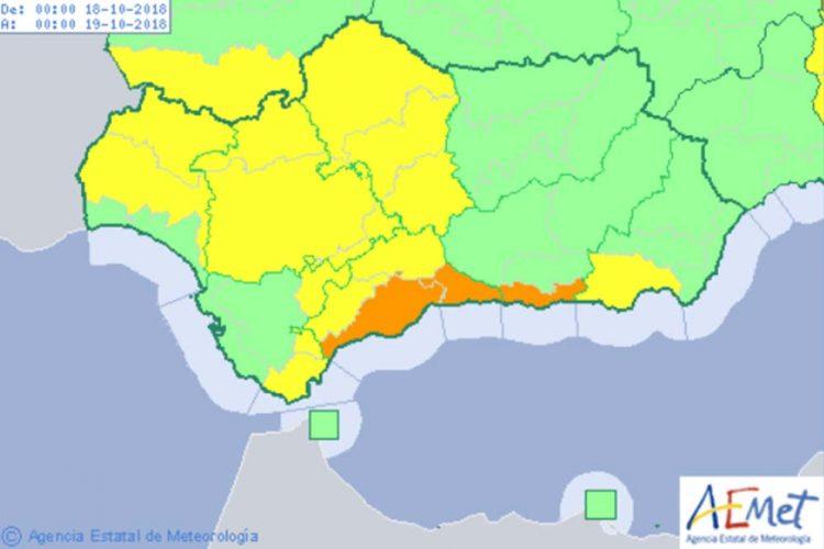 La Serranía de Ronda entra otra vez este jueves en alerta amarilla en previsión de intensas lluvias