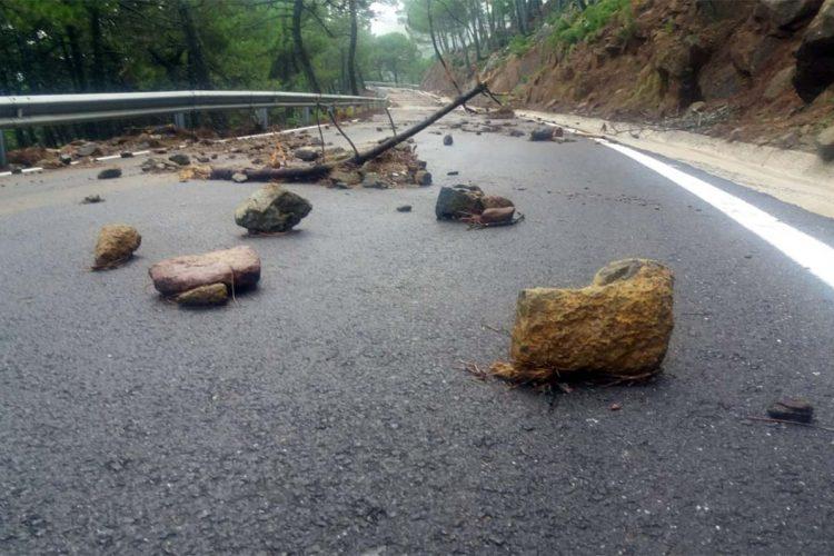 La Diputación actúa en tres carreteras del Valle del Genal afectadas por el temporal de lluvias