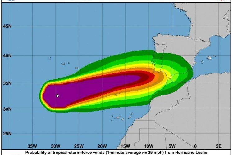 La Serranía de Ronda entra en alerta amarilla este domingo ante la inminente llegada a la península del ciclón Leslie