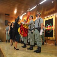 Más de 400 personas juraron la bandera de España en la Legión a pesar de las dificultades que tuvieron para llegar a Ronda por el temporal