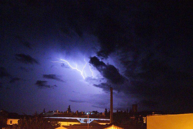 Así se vio desde Ronda la tormenta que rozó la Serranía sin dejar lluvias