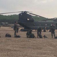 La X Bandera de La Legión con base en Ronda finaliza su preparación aeromóvil en San Gregorio
