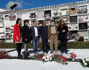 Foto de grupo con cargos socialistas sin Valdenebro.