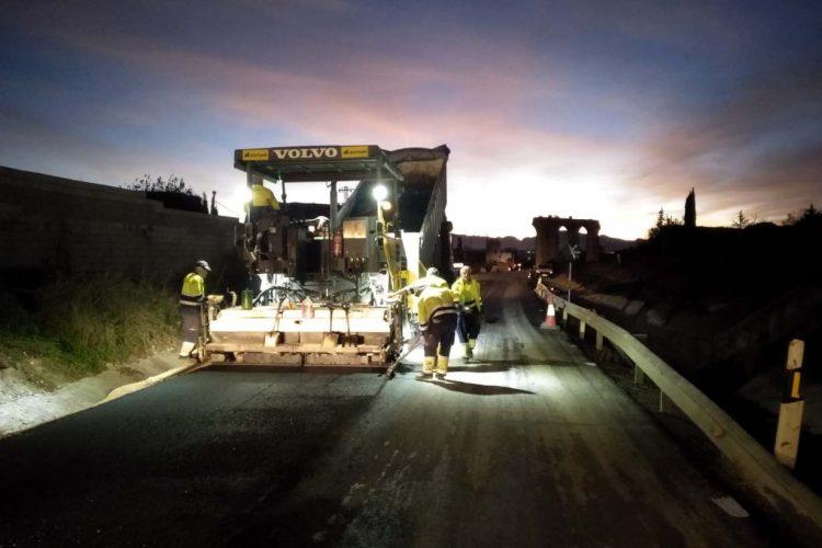 Las obras de reparación de los daños causados por el temporal en la A-366 Ronda-El Burgo están al 56% de ejecución