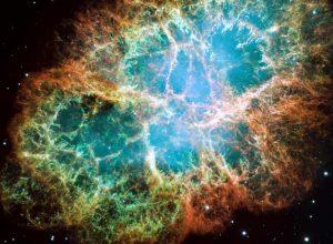 Remanente de una supernova. Nebulosa del Cangrejo en la constelación de Tauro. (NASA).