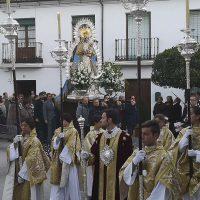 La Patrona de Ronda, la Virgen de la Paz, se traslada hasta la Merced para el desarrollo de la novena previa a su festividad