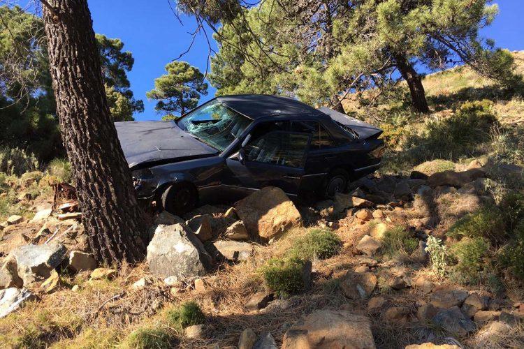 Localizan en un barranco de la carretera A-397 Ronda-San Pedro el cuerpo sin vida de un vecino de Cortes de la Frontera que desapareció el martes