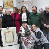 El Ayuntamiento de Arriate reconoce la labor de Asprodisis en el Día de San Valentín, patrón del municipio