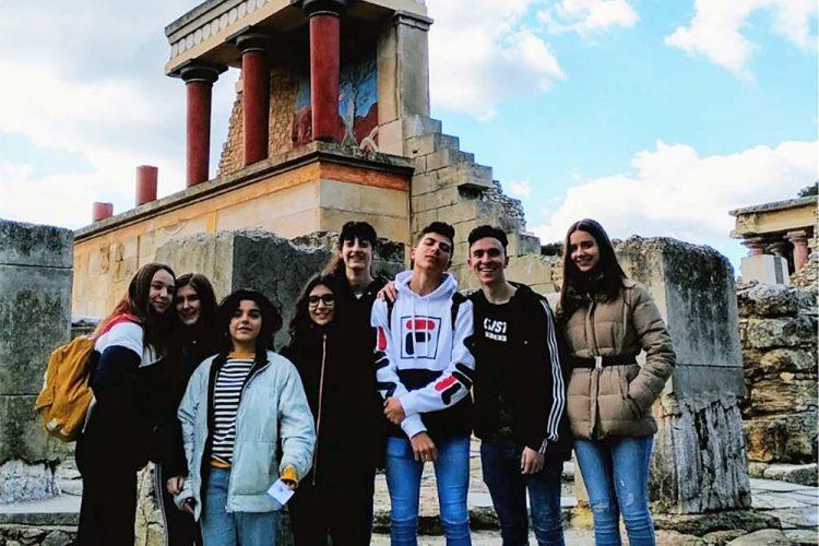 Ocho jóvenes rondeños participan en un programa de intercambio en la isla griega de Creta
