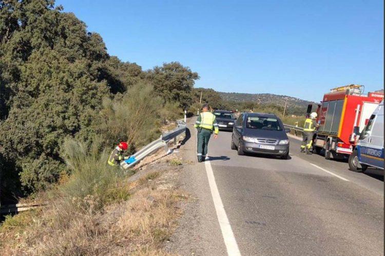 Un hombre de 66 años de edad resulta herido tras salirse su coche de la calzada en la A-367 entre Ronda y Cuevas del Becerro