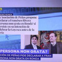 Francisco Rivera confirma en Antena 3 que la Feria de Ronda se adelantó a petición suya en los dos últimos años