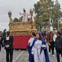 Traslado del Resucitado y de la Virgen de Loreto desde el Espíritu Santo hasta su Casa de Hermandad ante la imposibilidad de procesionar por amenaza de lluvia