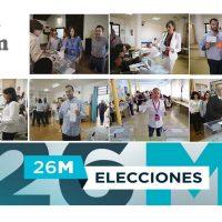 Los candidatos a la Alcaldía de Ronda votan en el inicio de la jornada electoral del 26M. La participación sube 2,32 puntos hasta el 30,35% en el avance de las 14.00 horas