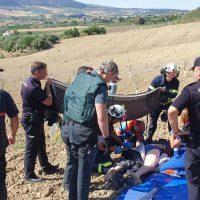 Un hombre resulta herido grave tras precipitarse con su parapente en unos parajes de la carretera Ronda-Arriate