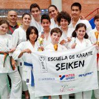 Los alumnos de la Escuela de Kárate Seiken se hicieron con seis medallas en el Trofeo Promesas de Málaga