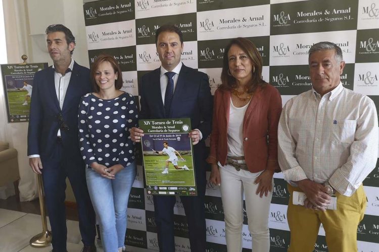 Presentan la XIV edición del Torneo de Tenis Morales & Arnal Correduría de Seguros que se celebrará del 24 al 29 de junio