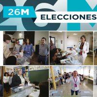 Los candidatos a la Alcaldía de Ronda votan en el inicio de la jornada electoral del 26M