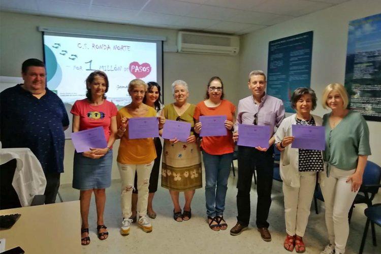 """Cuidadores y el grupo de consejo dietético del centro de salud Ronda Norte culminan su participación en la iniciativa """"Por un millón de pasos"""""""