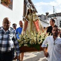 Diversión y fervor en la romería en honor a la patrona de Benalauría