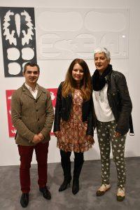 Las artistas, junto al alcalde.