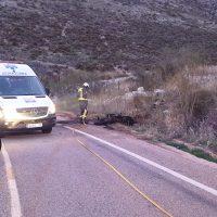 Fallece un motorista en la A-369 en Atajate tras colisionar frontalmente con un turismo