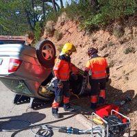 El puente de la Inmaculada se salda con dos accidentes en Genalguacil y Ronda y con dos personas heridas