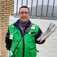 El vendedor rondeño de la ONCE Juan José Gómez reparte 200.000 euros del cupón del domingo en Almargen y Teba