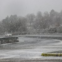 La borrasca Gloria deja nieve en Ronda y la Serranía