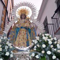 La Patrona, la Virgen de la Paz, ya está en La Merced para la novena que comenzará el miércoles día 15 de enero