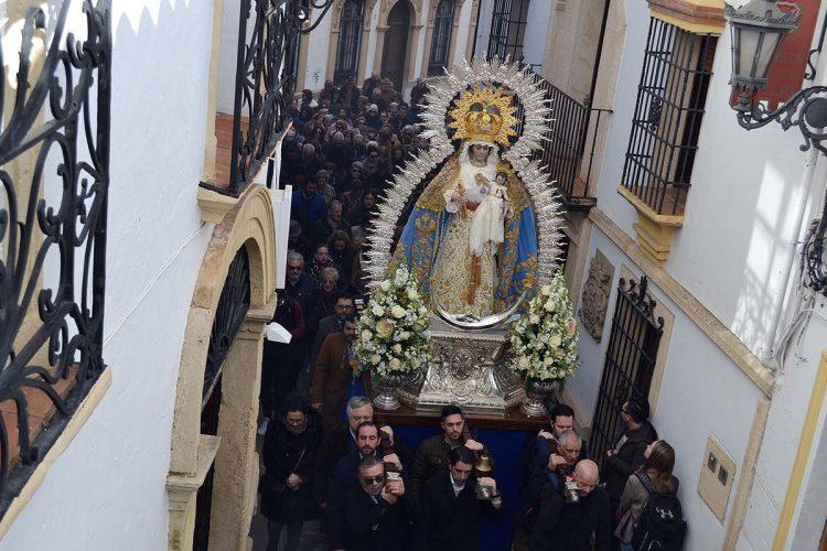 La Patrona de Ronda, la Virgen de la Paz, regresa a su santuario tras la celebración de los cultos en su honor