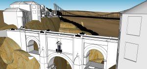 Zona lateral del puente.