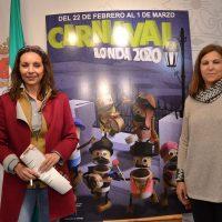 El Carnaval de Ronda arrancará el 22 de febrero con el pregón y el nombramiento de las reinas y el Dios Momo